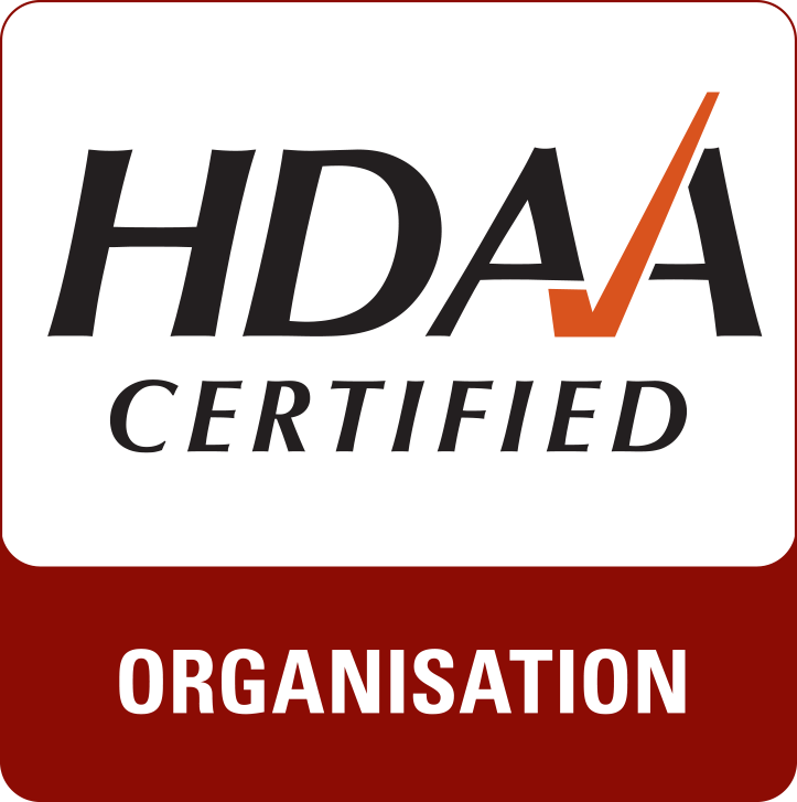 HDAA certified organisation